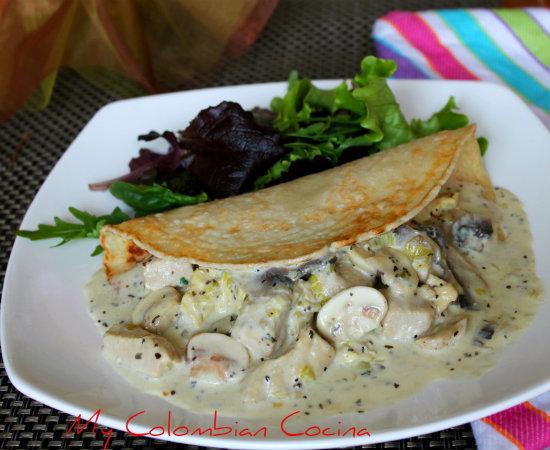 My colombian cocina plato fuerte for Salsa para crepes